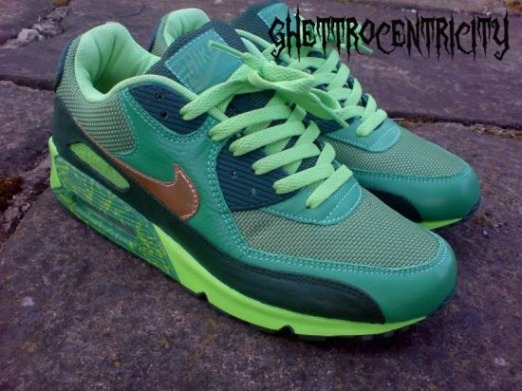 newest collection 93bc2 75dfd ... St. Patricks Day Air Max 90 Customs Nike ...